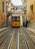 Bica Funicular in Lisbon Stock Images