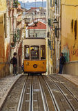 Bica Funicular in Lisbon Royalty Free Stock Photography