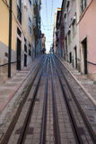 Bica Funicular in Lisbon Royalty Free Stock Photo