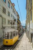 The Bica Funicular, sometimes known as the Elevador da Bica, Lisbon, Portugal Royalty Free Stock Images