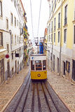 Bica tram in Lisbon Portugal Stock Image