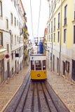 Bica tram in Lisbon Portugal. Bica tram in Lisbon in Portugal Stock Image