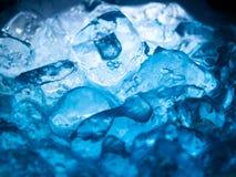 Bicarbonate de soude bleu Image stock