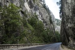 Bicaz Canyon. Canyon is one of the most spectacular roads in Romania. BICAZ GORGES, ROMANIA: Bicaz Canyon. Canyon is one of the most spectacular roads in stock image
