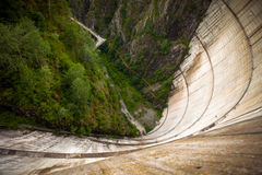 Bicaz Dam heigh seen from the top Royalty Free Stock Image