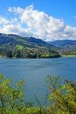 Bicaz dam: mountain spring lake Stock Image