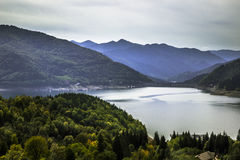 Bicaz dam in Romania. View to Bicaz dam in Piatra Neamt city, Romania Royalty Free Stock Photo