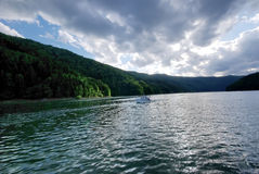 On Bicaz lake Royalty Free Stock Photo