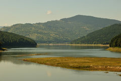 Bicaz lake panorama in Romania  Royalty Free Stock Photos