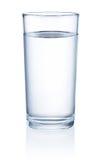 Bicchiere d'acqua isolato su fondo bianco Immagini Stock Libere da Diritti