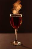 Bicchiere di vino adorabile Fotografia Stock Libera da Diritti