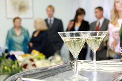 Bicchiere di vino con champagne Fotografia Stock Libera da Diritti