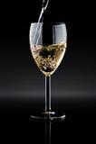 Bicchiere di vino con vino Immagini Stock
