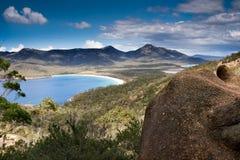 bicchiere di vino della Tasmania della baia Fotografia Stock Libera da Diritti