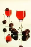 bicchiere di vino di Ancora-vita con la bevanda Fotografia Stock Libera da Diritti