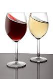 Bicchiere di vino due Immagini Stock Libere da Diritti
