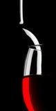Bicchiere di vino e bottiglia astratti Fotografie Stock Libere da Diritti