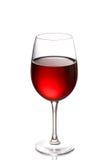 Bicchiere di vino isolato su un bianco fotografia stock