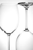 Bicchiere di vino vuoto due Immagine Stock Libera da Diritti