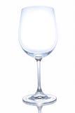 Bicchiere di vino vuoto su fondo bianco Immagine Stock Libera da Diritti