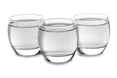 Bicchieri d'acqua Fotografie Stock Libere da Diritti