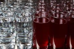 Bicchieri d'acqua e bevanda Fotografia Stock
