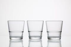 Bicchieri d'acqua vuoti Fotografia Stock Libera da Diritti