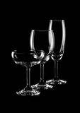 Bicchieri di vino Fotografie Stock