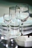 Bicchieri di vino/ristorante Fotografia Stock Libera da Diritti