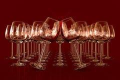 Bicchieri di vino vuoti Immagini Stock Libere da Diritti