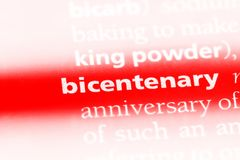 bicentenaire photo stock
