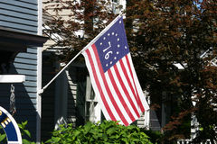 Bicentennial Flag Stock Photography