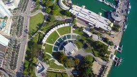 Bicentennial Park Miami stock footage
