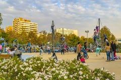 Bicentennial park, Santiago de Chile zdjęcie stock