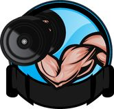 Bicep Curl royalty free illustration