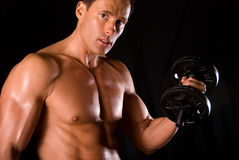 Bicep curl. Royalty Free Stock Images