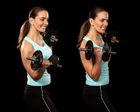 Bicep Curl Royalty Free Stock Image