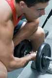 Bicep Curl - Side Shot Stock Photo