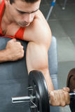 Bicep Curl - Up Close Royalty Free Stock Photos