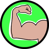 Bicep Curl Stock Photography