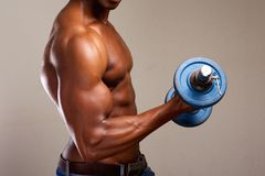 Bicep exercise Stock Images