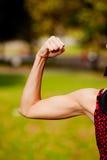 Bicep femelle Photographie stock libre de droits