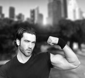 Bicep flex Royalty Free Stock Photography