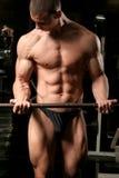 bicepsów barbell loczki Zdjęcie Royalty Free