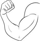 Biceps av den starka mannen stock illustrationer