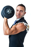 Biceps of a businessman Stock Photography