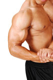 Biceps and chest. Stock Photos