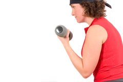 Biceps curls Royalty Free Stock Photo