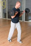Biceps curls Stock Image