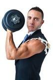 Biceps d'un homme d'affaires Photographie stock